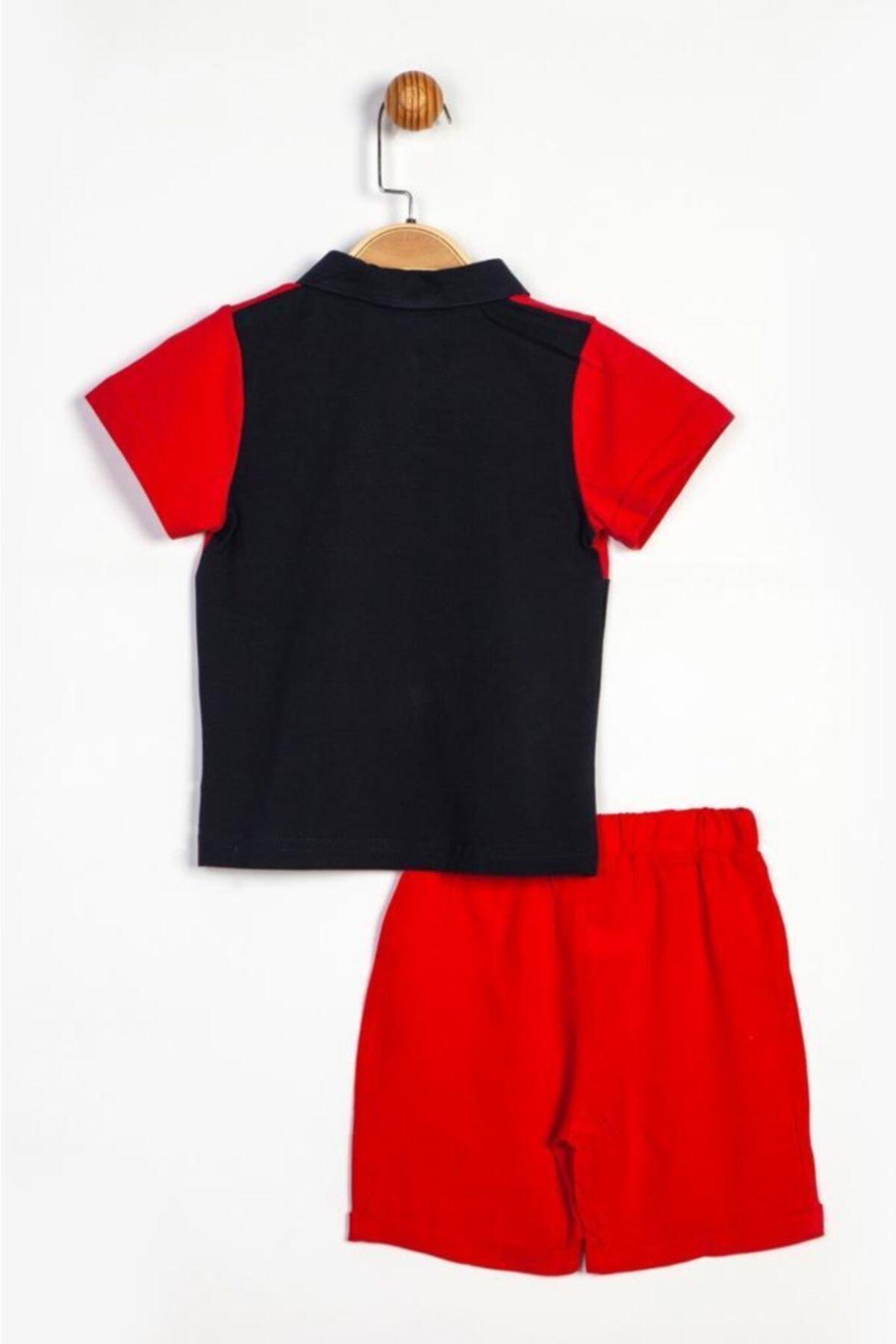 Mickey Mouse Erkek Çocuk kırmızı Polo Yaka Alt-Üst Takım 15445 T20y15445dsn01 2