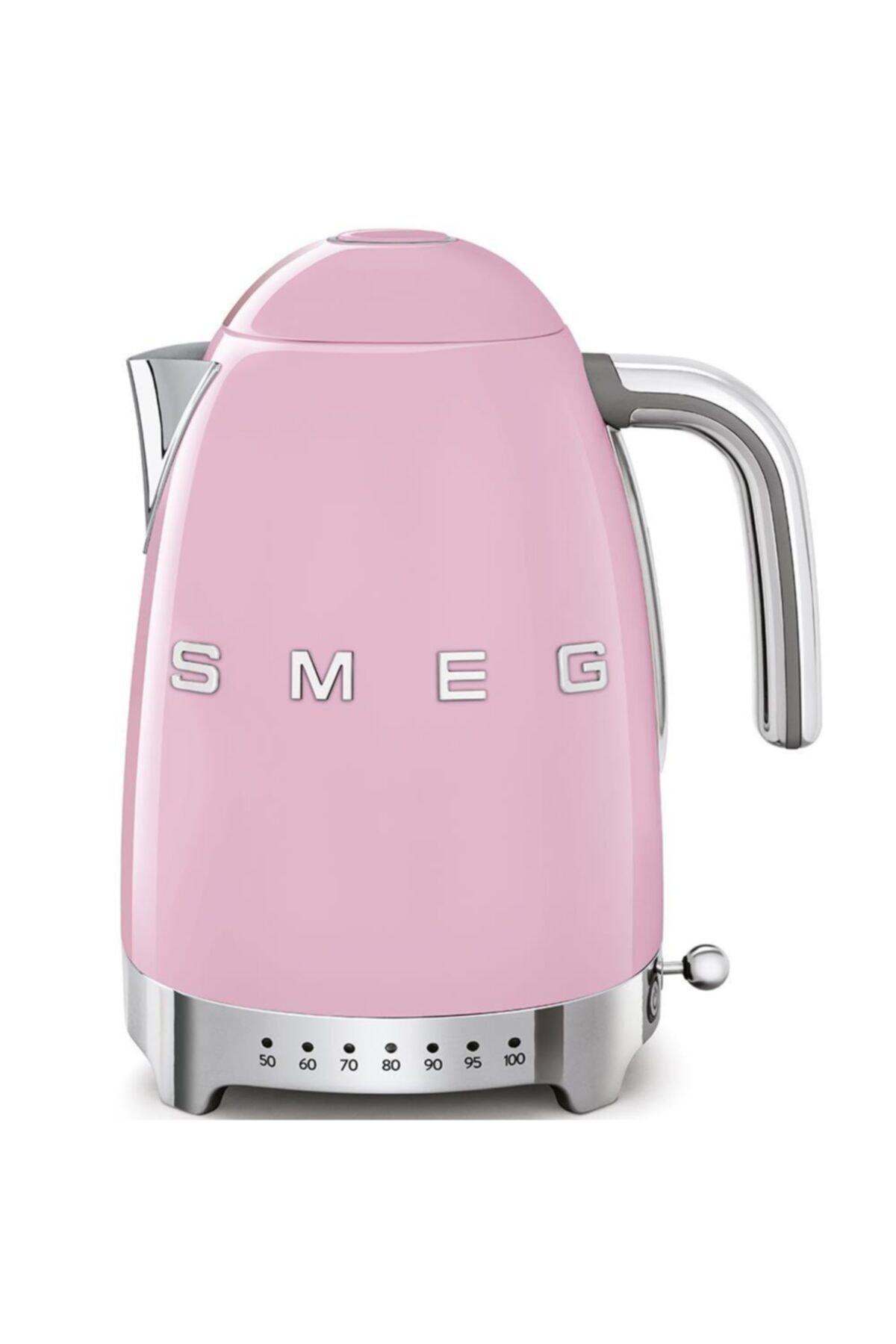 SMEG Isı Ayarlı Otomatik Sistem 50's Style Pembe Renk Su Isıtıcı Kettle Klf04pkeu 1