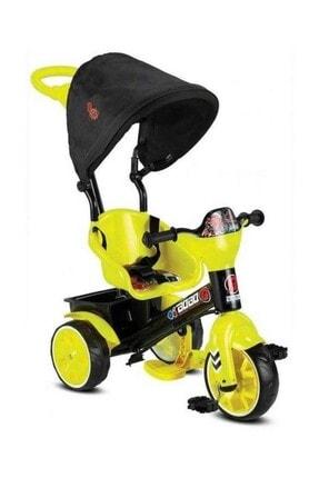 BabyHope Bobo Tenteli Itmeli Bisiklet Sarı