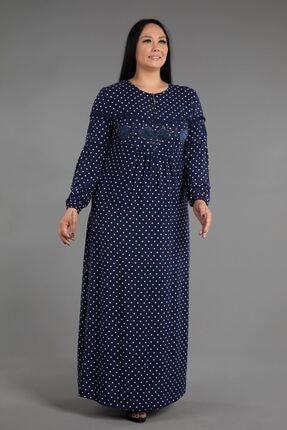 New Color Uzun Viskon Elbise
