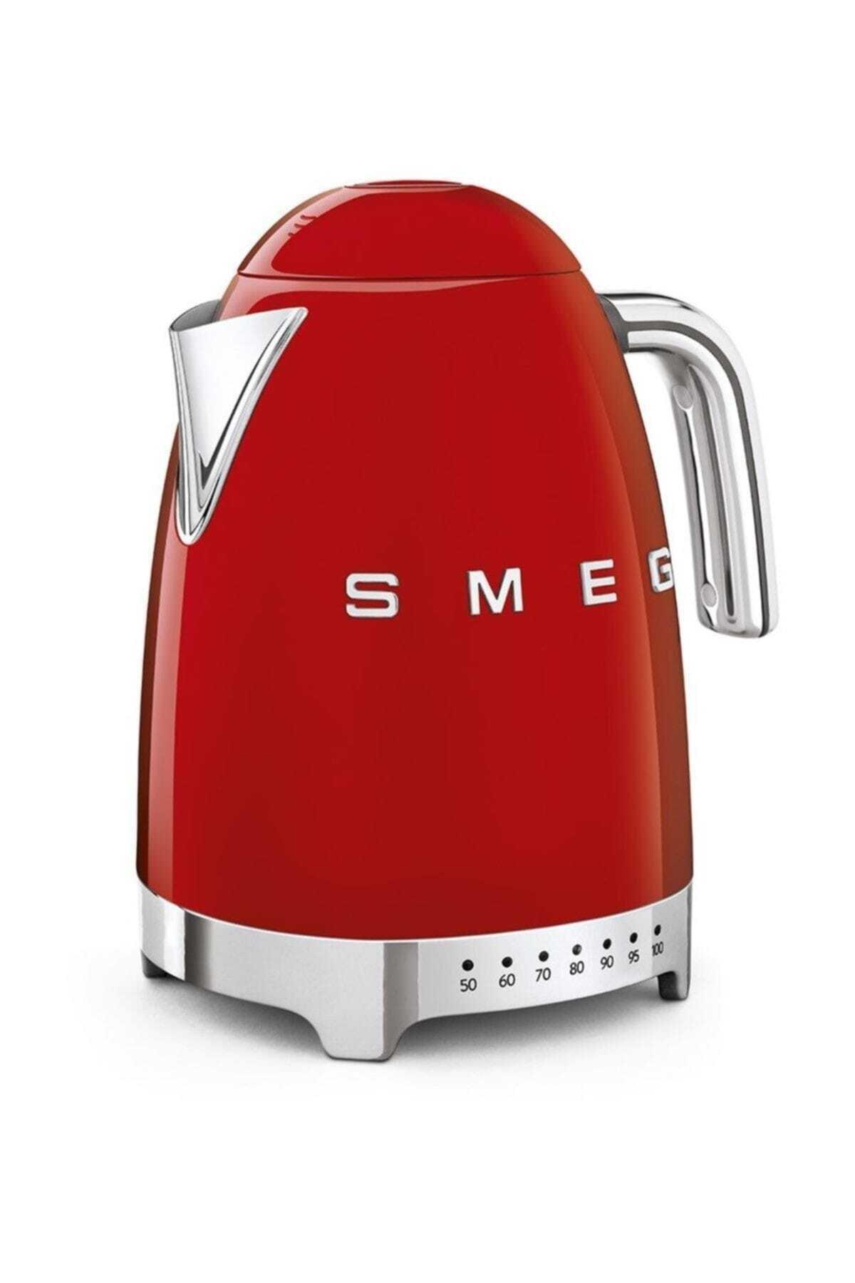 SMEG Klf04rdeu 1,7 lt 2400 W Retro Kırmızı Isı Ayarlı Kettle 1