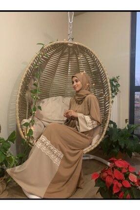 bybüşrabilgi Kadın Kahverengi Abaya Ferace