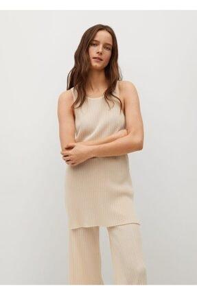 MANGO Woman Kadın Pilili Askılı Bluz