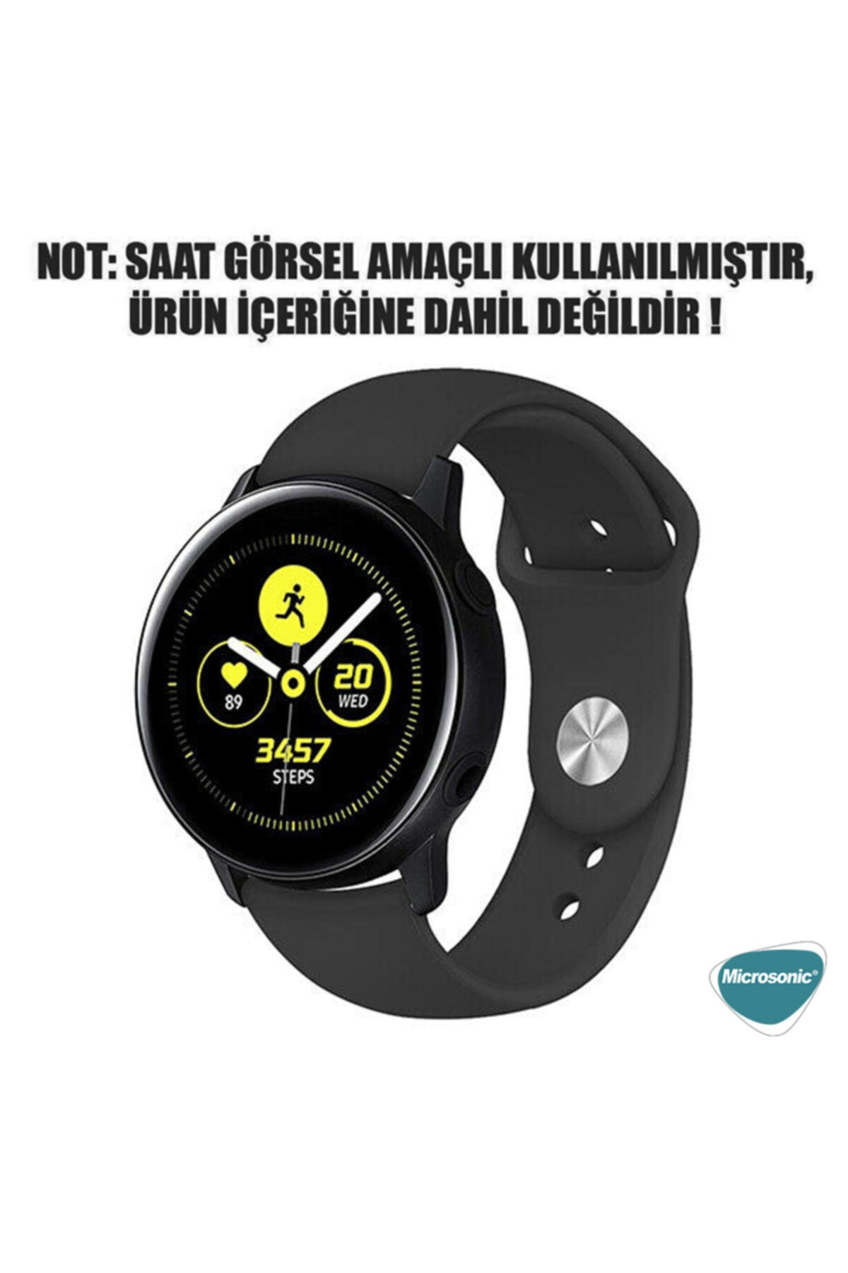 Microsonic Huawei Honor Magic Watch 2 42mm Silicone Sport Band Sarı Uyumlu 2