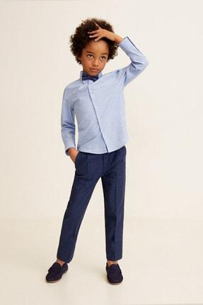 MANGO Kids Erkek Çocuk Mavi Gömlek 43027016