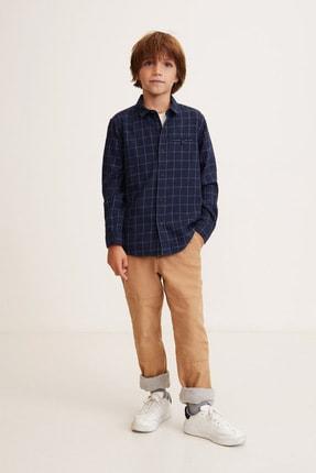 MANGO Kids Erkek Çocuk Prusya Mavisi Gömlek 43020485