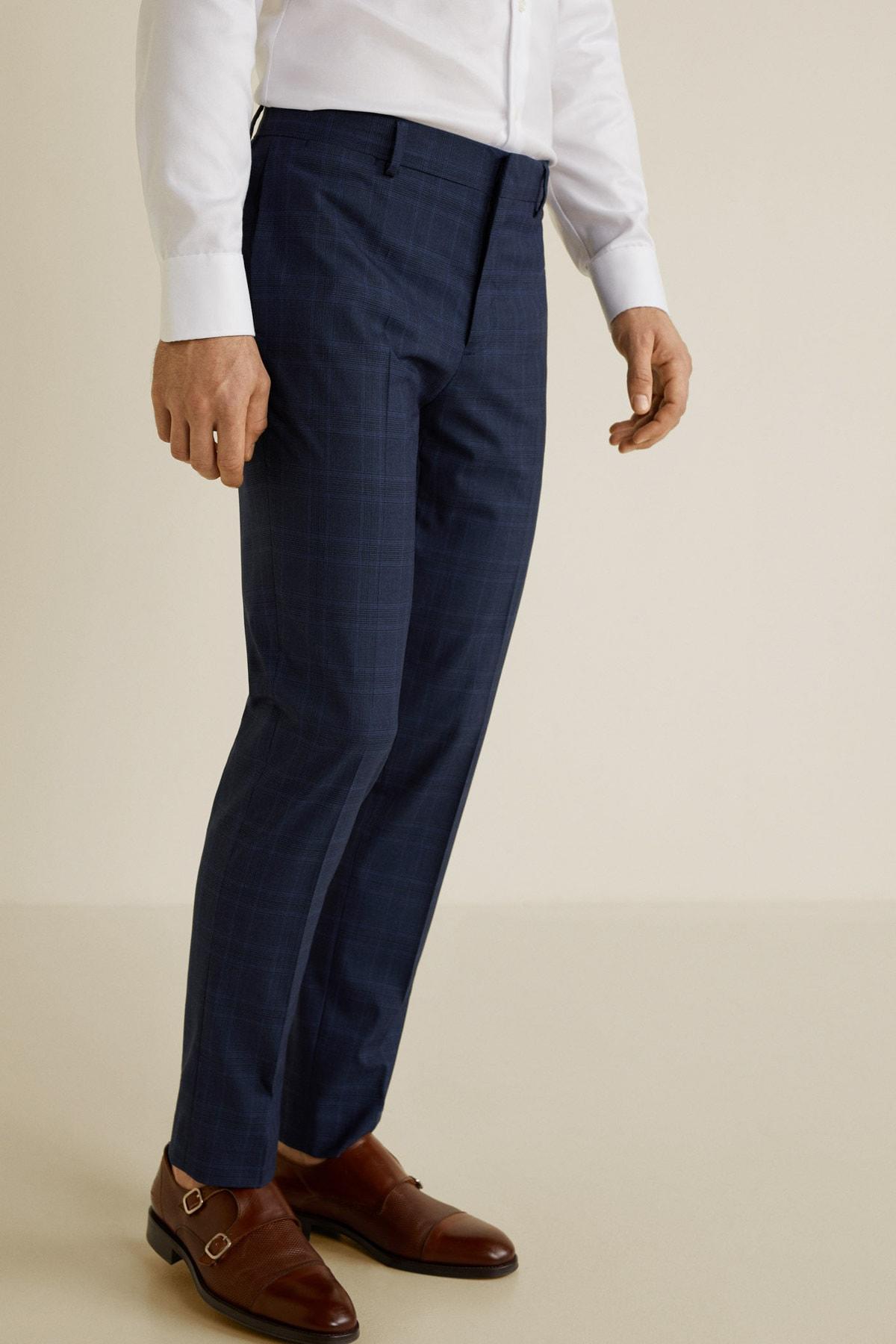 MANGO Man Erkek Lacivert Pantolon 43020503 2
