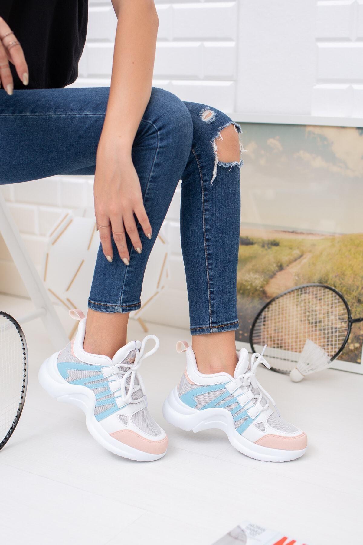 meyra'nın ayakkabıları Mavi Pembe Spor Ayakkabı 2
