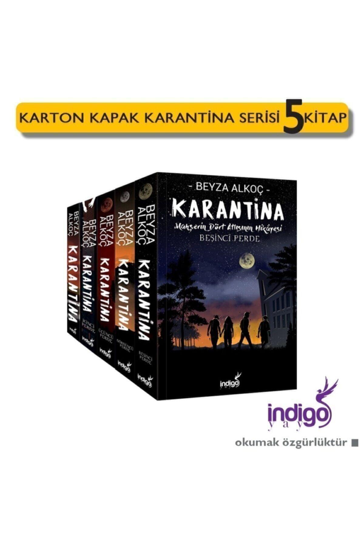 İndigo Kitap Karantina Serisi 5 Kitap Set Ciltsiz Beyza Alkoç 1
