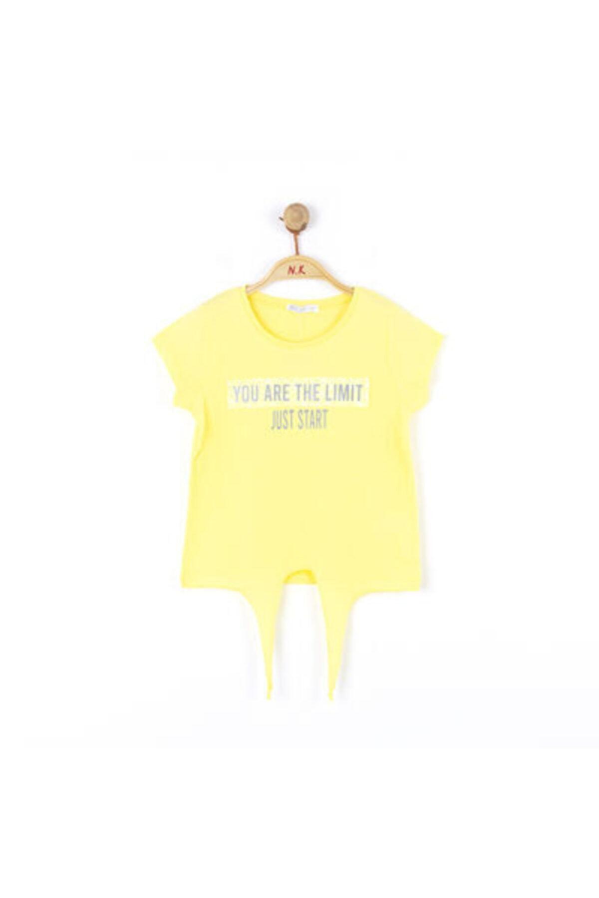 NK Kız Çocuk Sarı Önden Bağlamalı Tshirt 1