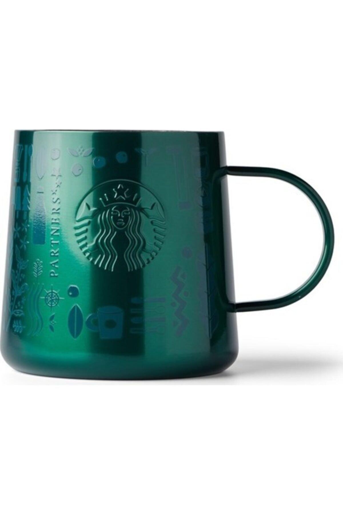 Starbucks ® 50. Yıl Özel Seri Kupa - Koyu Yeşil Renkli Paslanmaz Çelik 414 ml 1