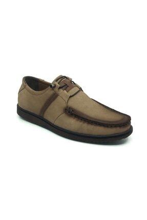 Taşpınar Erkek Kum Hakiki Deri Yazlık Ortopedik Ayakkabı