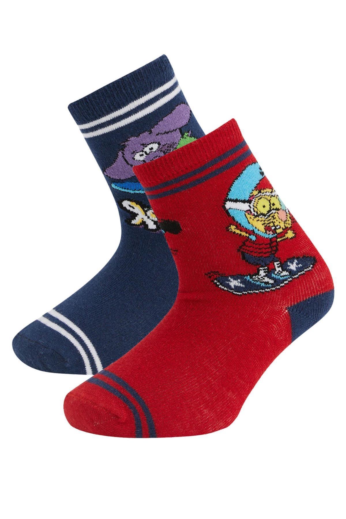 DeFacto Erkek Çocuk Kral Şakir Lisanslı 2'li Soket Çorap
