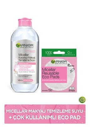 Garnier Micellar Kusursuz Makyaj Temizleme Suyu + Micellar Çok Kullanımlı Eco Pad