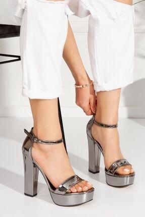 derithy Lakove Topuklu Ayakkabı-platin-byc7308