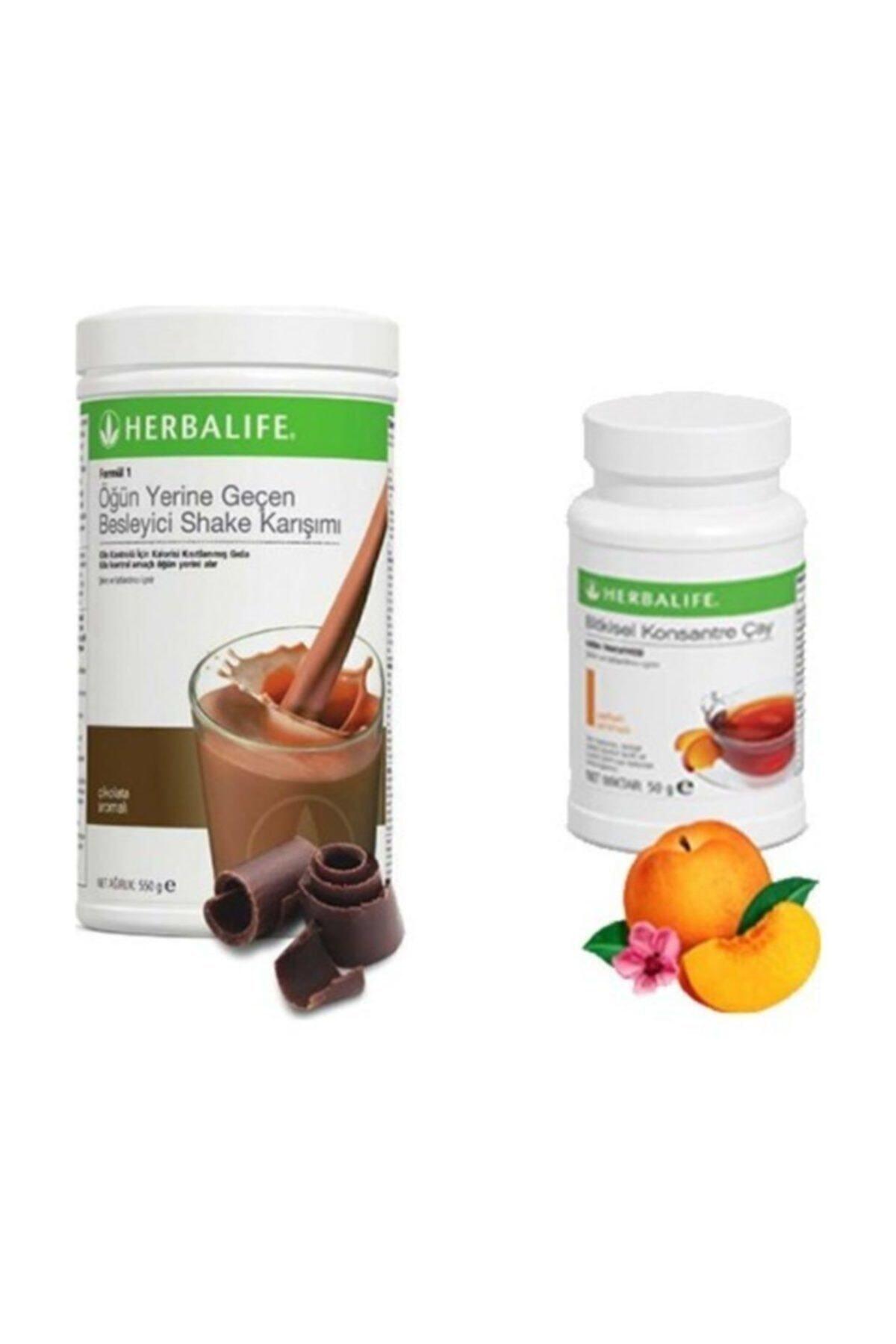 Herbalife Çikolata Shake 550 gr. - Şeftali Çay 50 gr 1