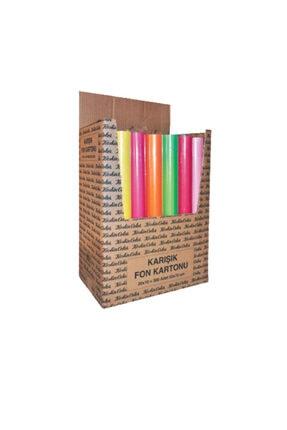 KESKİN COLOR Renkli Fon Kartonu 50-70 10lu Karışık Rulo