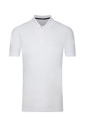 SÜVARİ Erkek Beyaz Slim Fit Polo Yaka T-shirt
