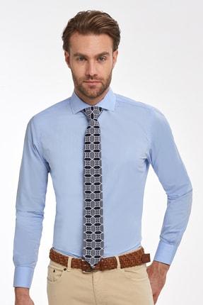 Hemington Erkek Açık Mavi Italyan Yaka Pamuk Business Gömlek