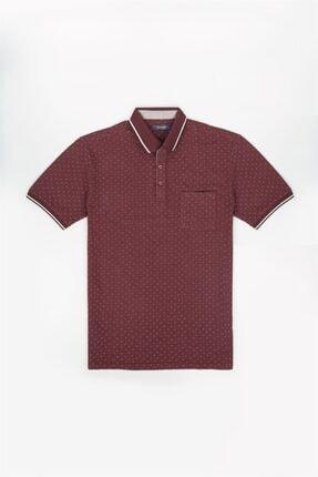 Jakamen Mürdüm Klasik Kalıp Polo Yaka T-shirt