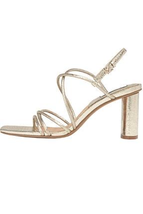 Stradivarius Kadın Altın Bantlı Topuklu Sandalet