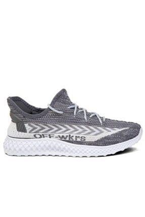 Wickers Örme Katlanabilir Füme Nefes Alabilen Beyaz Çorap Ayakkabı