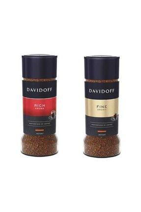 Tchibo Davidoff Rich Aroma 100gr + Davidoff Fine Aroma 100 gr 2li Paket