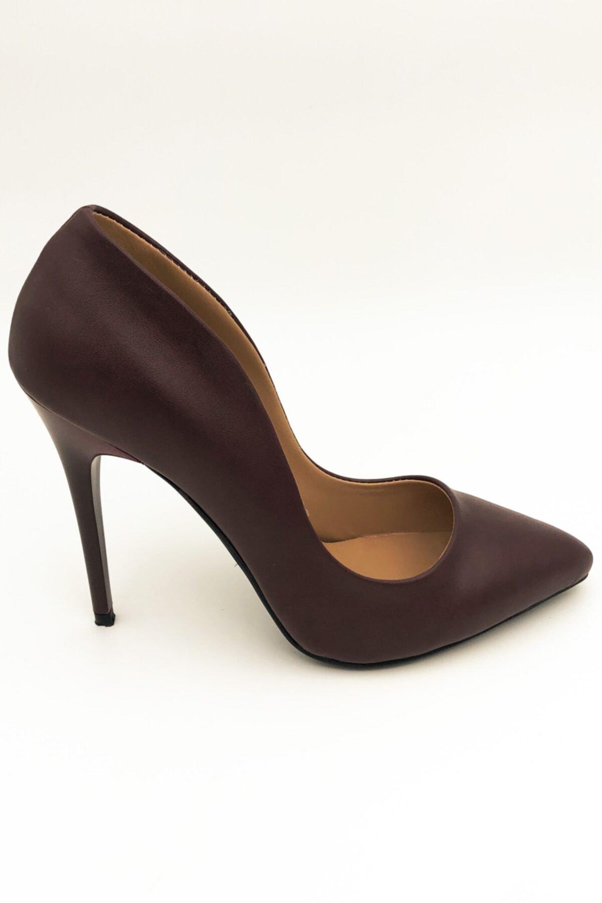 beyzasaylık Kadın Bordo Stiletto  Ayakkabı 1