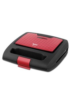 Fakir Gına Mini Tost Makinası-kırmızı Siyah