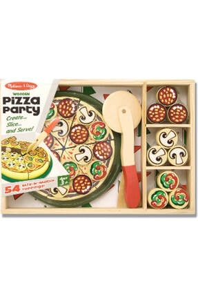 Melissa & Doug Melissa&Doug Ahşap Pizza Partisi /