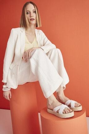 Yaya by Hotiç Tekstil Beyaz Kadın Terlik 01TEY208870A900