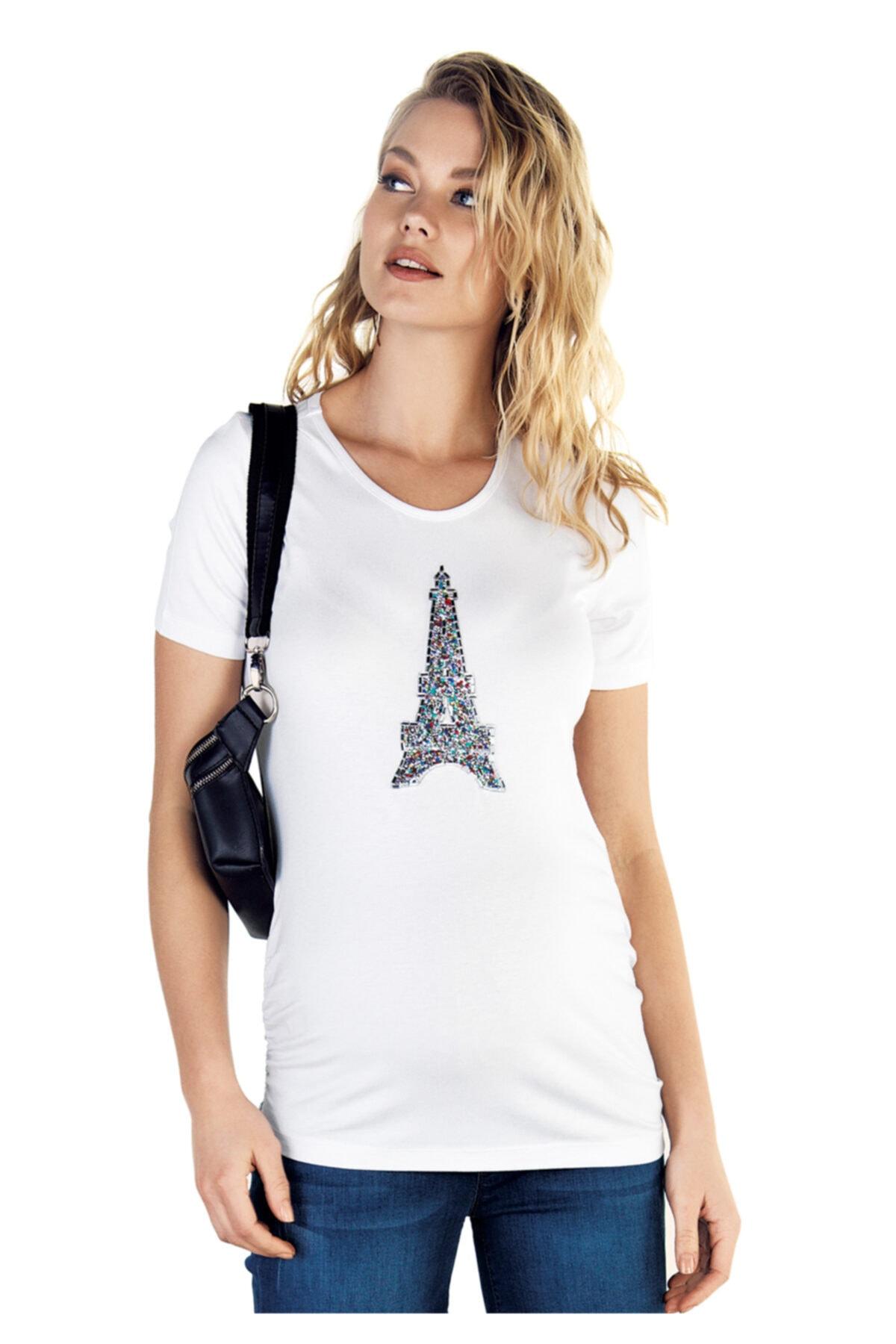 Ebru Maternity Kadın  Hamile Tişörtü 4223 - 2