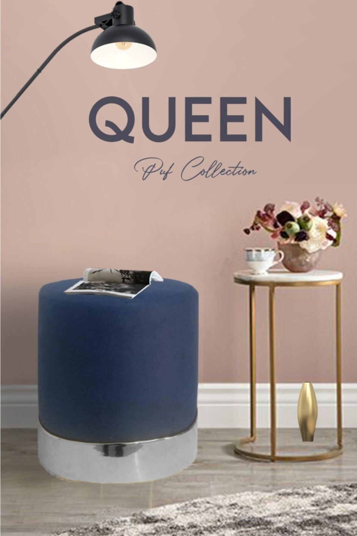 Zem Queen Blue - Silver Puf 1