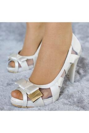 PUNTO Kadın Fiyonklu Platform Topuklu Ayakkabı