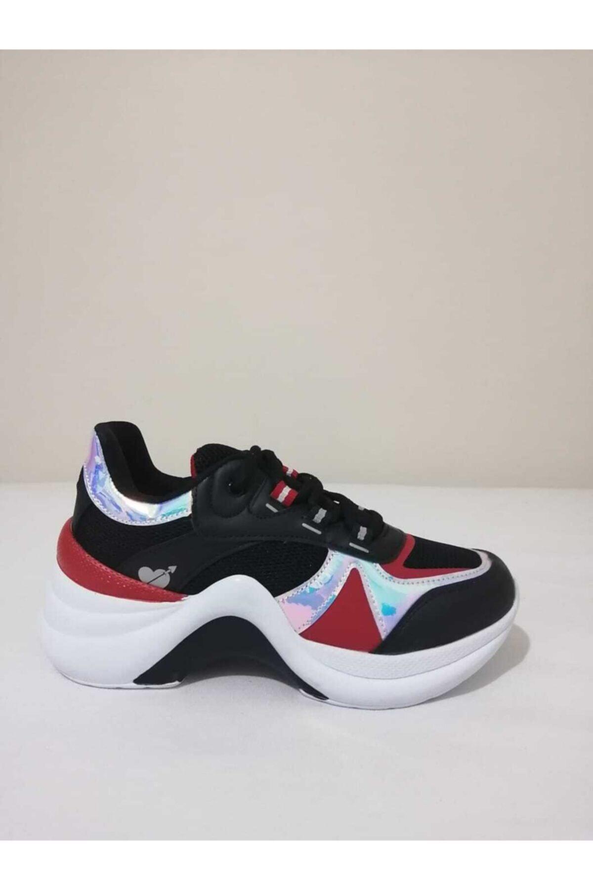 Twingo Kadın Siyah Sneaker Dolgu Taban Ayakkabısı 1