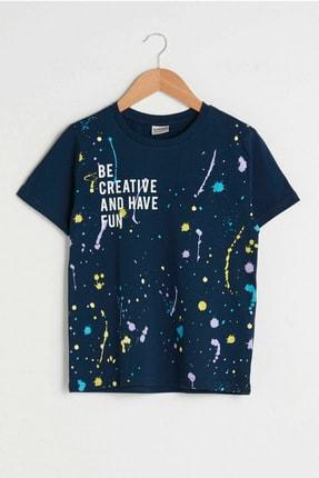 LC Waikiki Erkek Çocuk Lacivert Jc7 T-Shirt