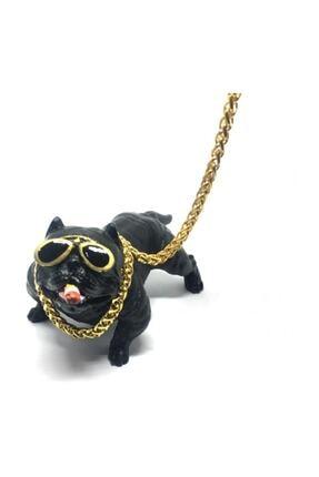 Oto Aksesuarcım Pitbull Biblo Köpek Torpido Üstü Araç Içi Süs Siyah
