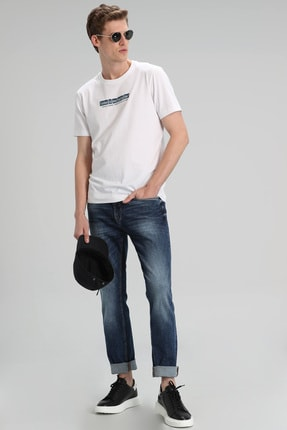 Lufian Clerk Smart Jean Pantolon Slim Fit Indigo