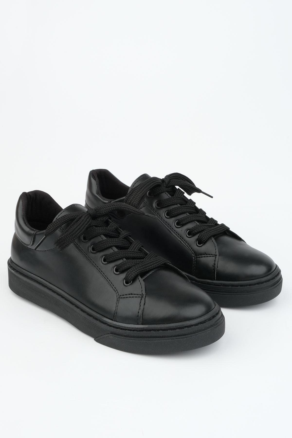 Marjin Kadın Siyah Sneaker Ayakkabı Balen 2