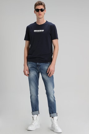 Lufian Descar Smart Jean Pantolon Slim Fit Mavi