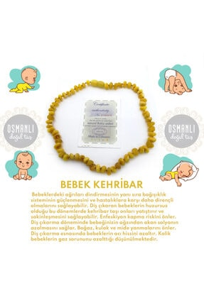 OSMANLI DOĞAL TAŞ Bebek Kehribar Kolye (33-35 Cm)