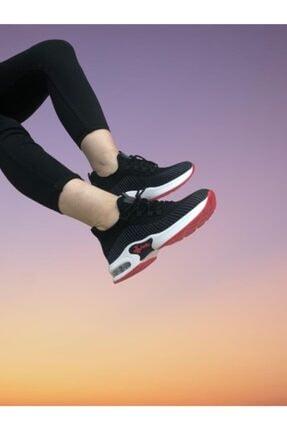 Guja Kadın Kırmızı Siyah Gizli Topuk Spor Ayakkabısı 21y301-1