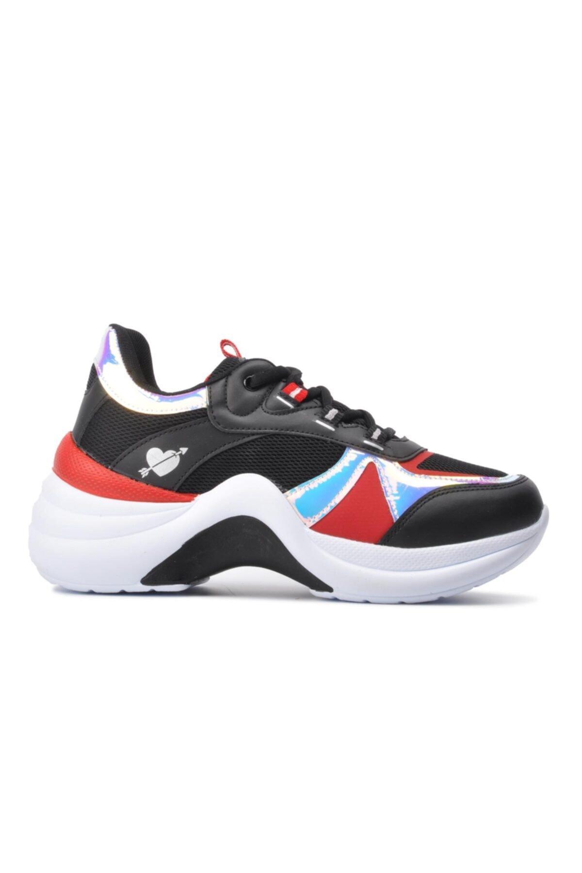 Twingo 601 Siyah-kırmızı Kadın Spor Ayakkabı 1