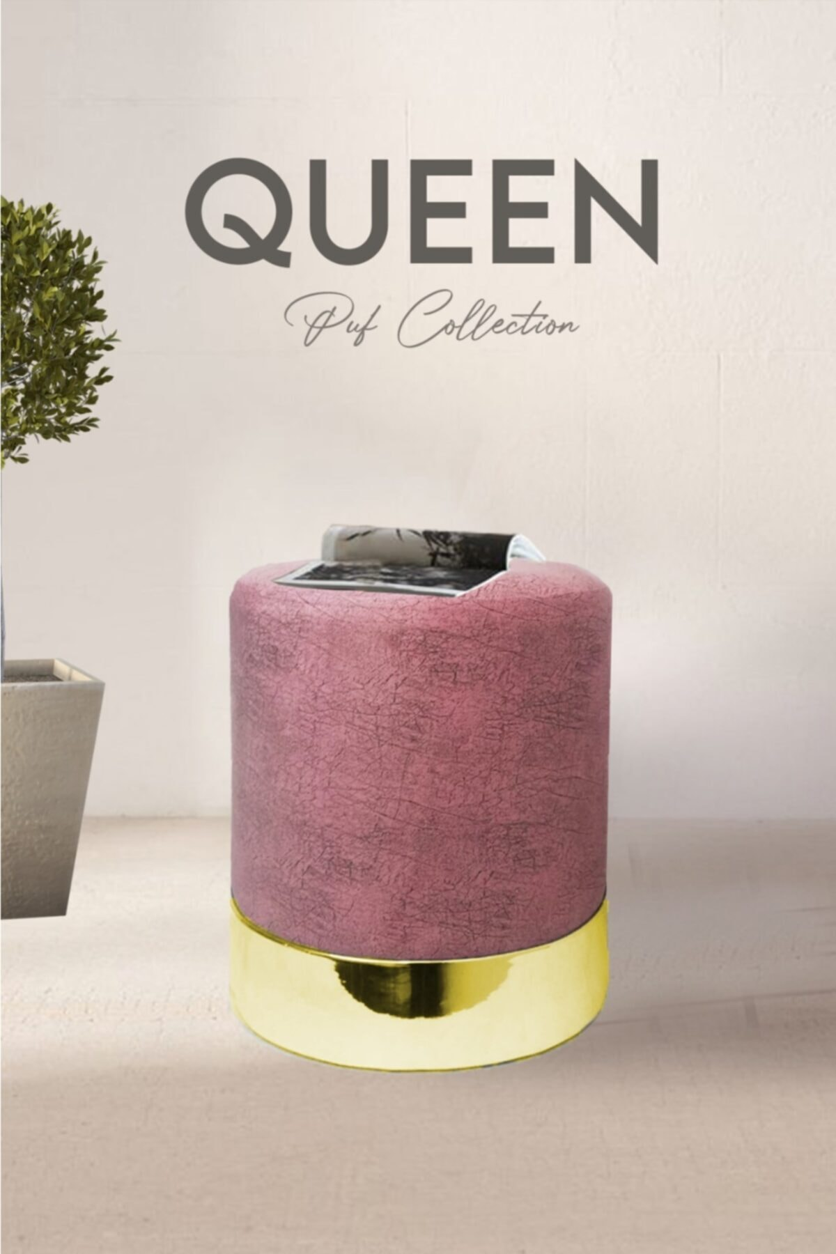 Zem Queen Rose - Gold Puf 1