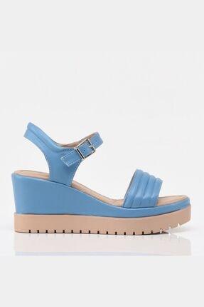 Hotiç Açık Mavi Yaya Kadın Sandalet &terlik