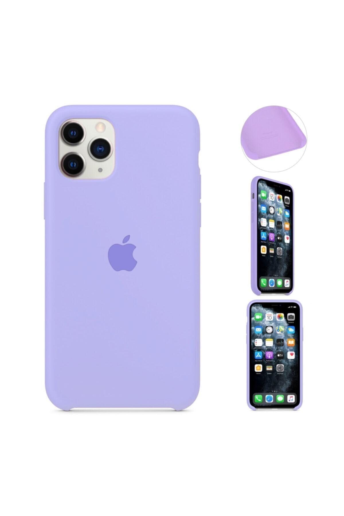 MobileGaraj Iphone 11 Pro Max Için Lansman Silikon Kılıf - Lila Uyumlu 1