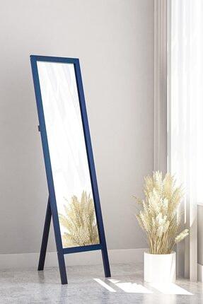 bluecape Floransa Mavi Ayaklı Antre Hol Koridor Salon Banyo Ofis Çocuk Yatak Odası Boy Aynası  38x145cm