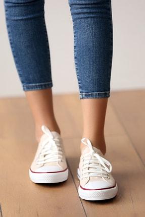 Pembe Potin Unisex Bej Ayakkabı