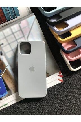 SUPPO Iphone 12 Logolu Lansman Içi Kadife Silikon Kılıf