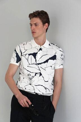Lufian Lamas Spor Polo T- Shirt Kırık Beyaz